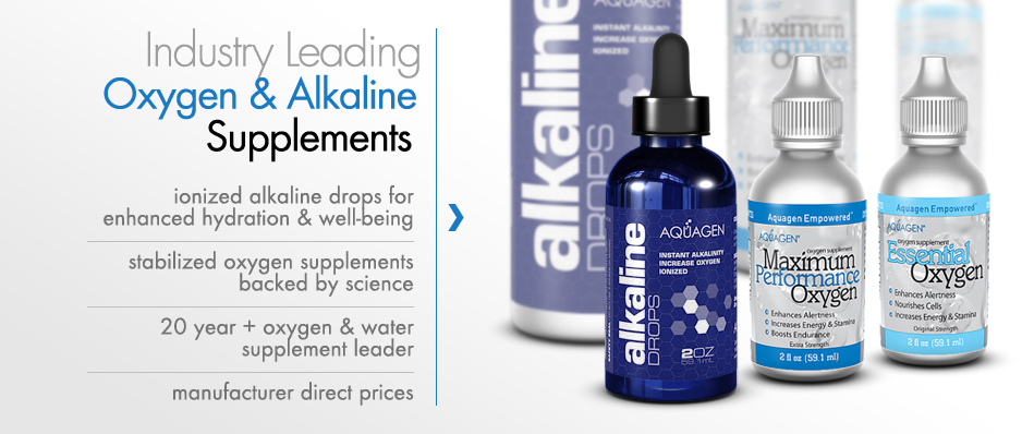 Alkaline Water and Oxygenated Water Supplements